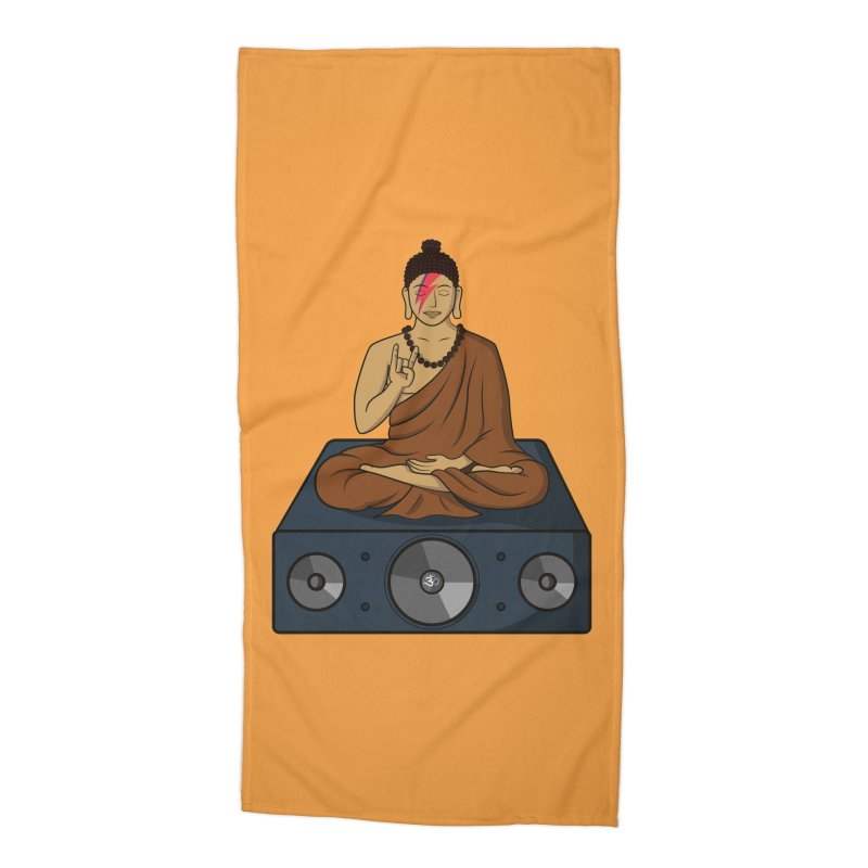 Rockin' Buddha Accessories Beach Towel by hristodonev's Artist Shop