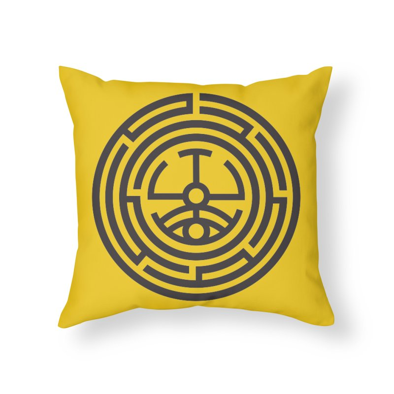 The Life Rune Home Throw Pillow by Hristo's Shop