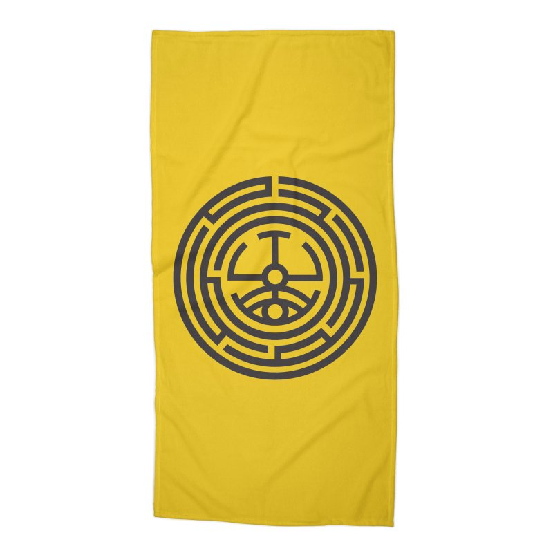 The Life Rune Accessories Beach Towel by Hristo's Shop