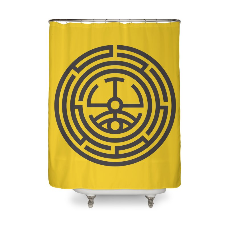 The Life Rune Home Shower Curtain by hristodonev's Artist Shop