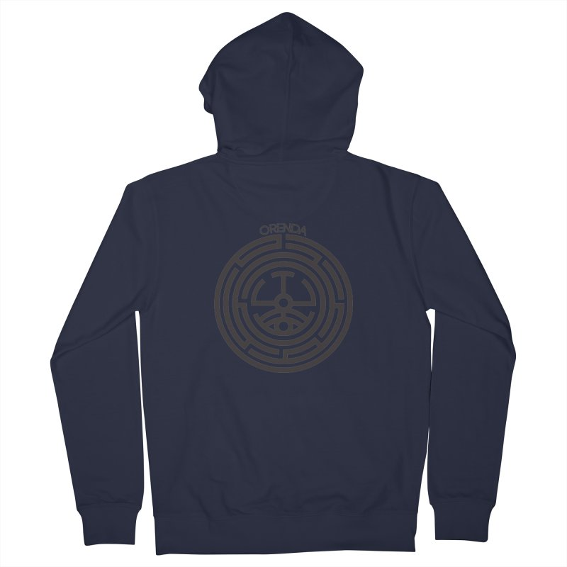 The Life Rune Men's French Terry Zip-Up Hoody by Hristo's Shop