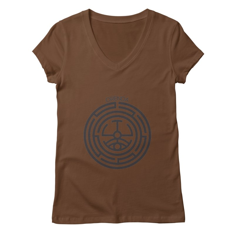 The Life Rune Women's Regular V-Neck by Hristo's Shop