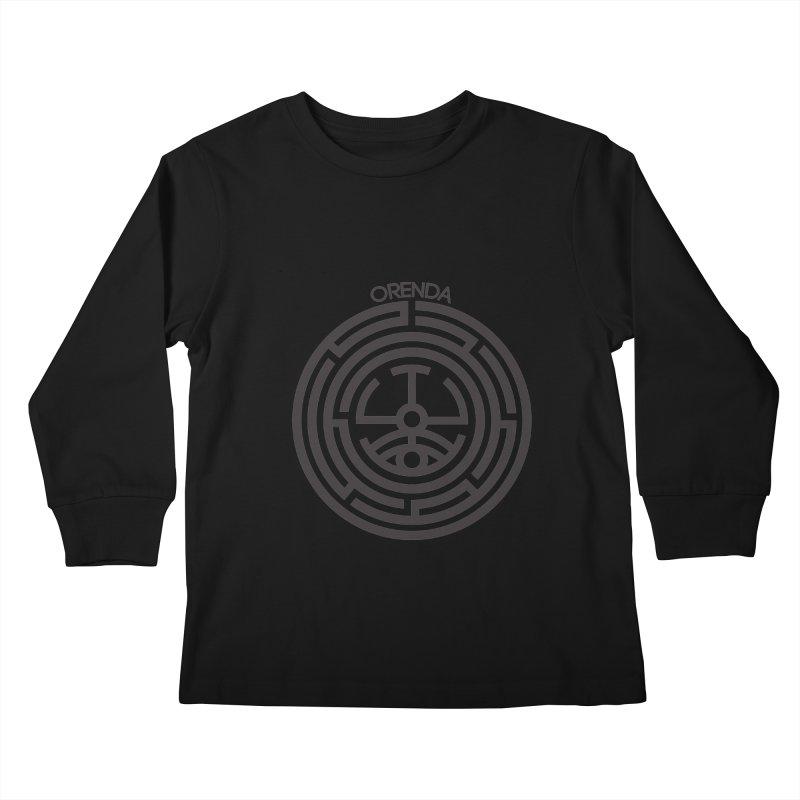 The Life Rune Kids Longsleeve T-Shirt by Hristo's Shop