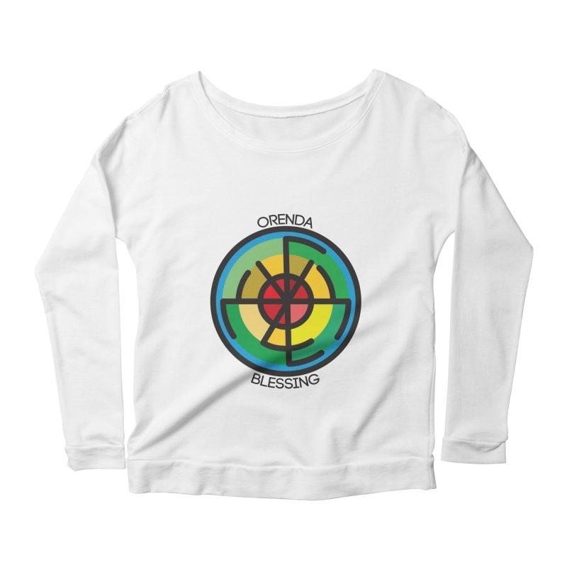 Orenda Blessing Women's Scoop Neck Longsleeve T-Shirt by Hristo's Shop