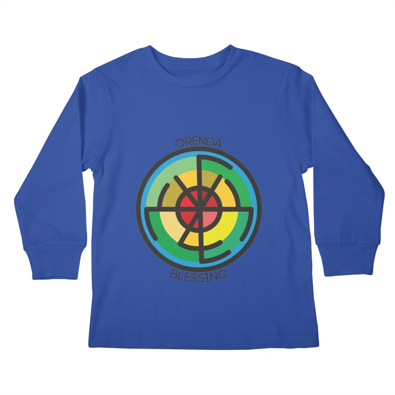 Orenda Blessing Kids Longsleeve T-Shirt by Hristo's Shop