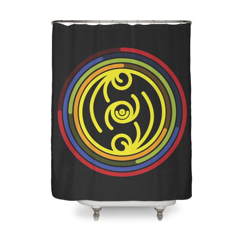 Faith Love Wisdom Home Shower Curtain by Hristo's Shop
