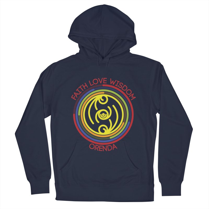 Faith Love Wisdom Women's French Terry Pullover Hoody by Hristo's Shop