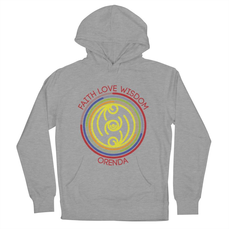 Faith Love Wisdom Men's French Terry Pullover Hoody by Hristo's Shop