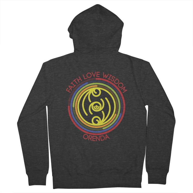 Faith Love Wisdom Women's Zip-Up Hoody by Hristo's Shop