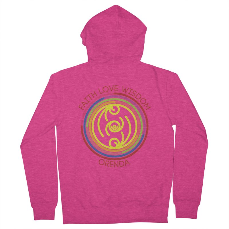 Faith Love Wisdom Women's French Terry Zip-Up Hoody by Hristo's Shop