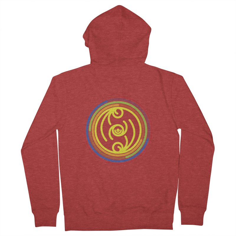 Faith Love Wisdom Men's French Terry Zip-Up Hoody by Hristo's Shop