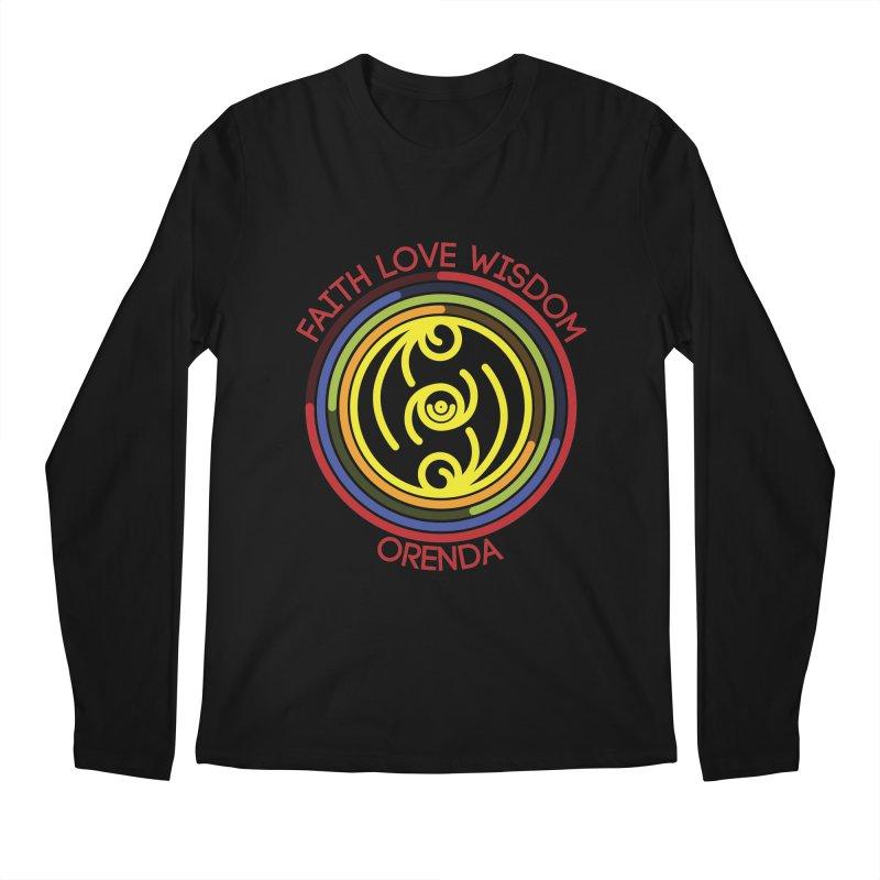 Faith Love Wisdom Men's Regular Longsleeve T-Shirt by Hristo's Shop