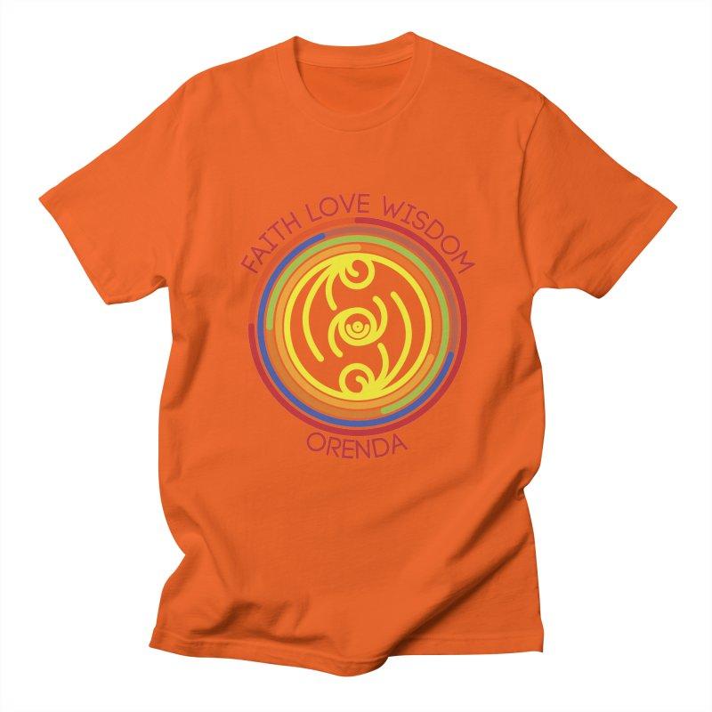 Faith Love Wisdom Men's T-Shirt by Hristo's Shop