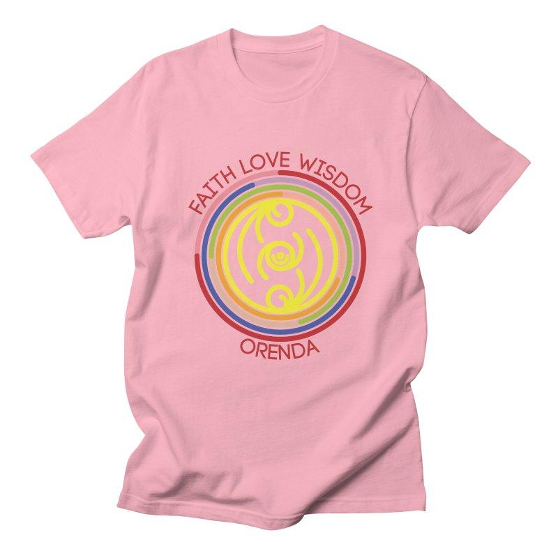 Faith Love Wisdom Men's Regular T-Shirt by Hristo's Shop