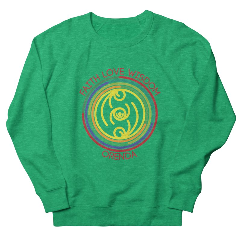 Faith Love Wisdom Men's Sweatshirt by Hristo's Shop