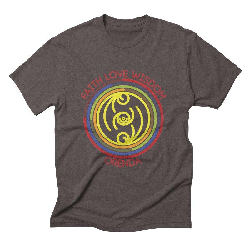 Faith Love Wisdom Men's Triblend T-Shirt by Hristo's Shop