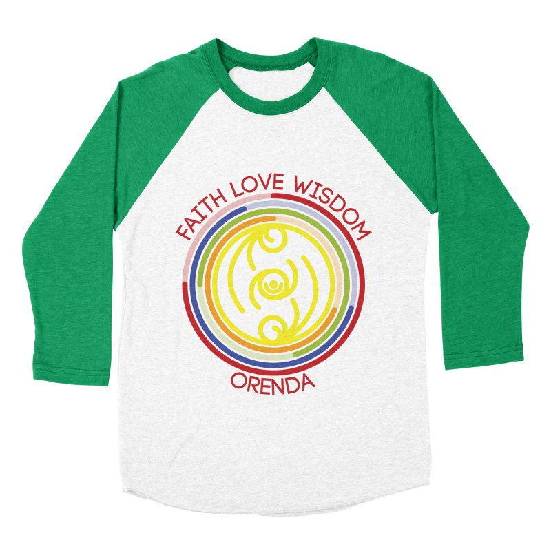 Faith Love Wisdom Women's Baseball Triblend T-Shirt by hristodonev's Artist Shop