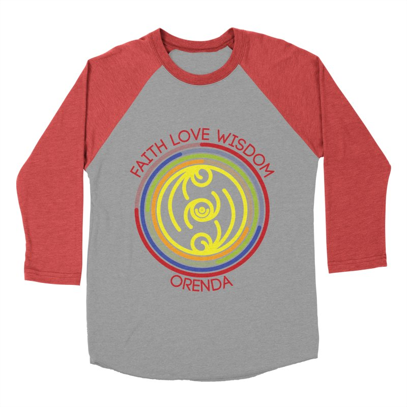 Faith Love Wisdom Men's Baseball Triblend T-Shirt by hristodonev's Artist Shop