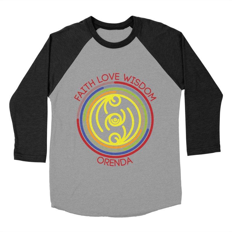 Faith Love Wisdom Men's Baseball Triblend T-Shirt by Hristo's Shop