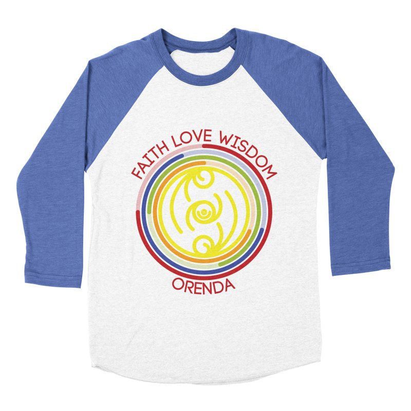 Faith Love Wisdom Men's Baseball Triblend Longsleeve T-Shirt by Hristo's Shop