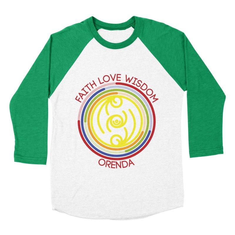 Faith Love Wisdom Men's Baseball Triblend Longsleeve T-Shirt by Hristo's Shop