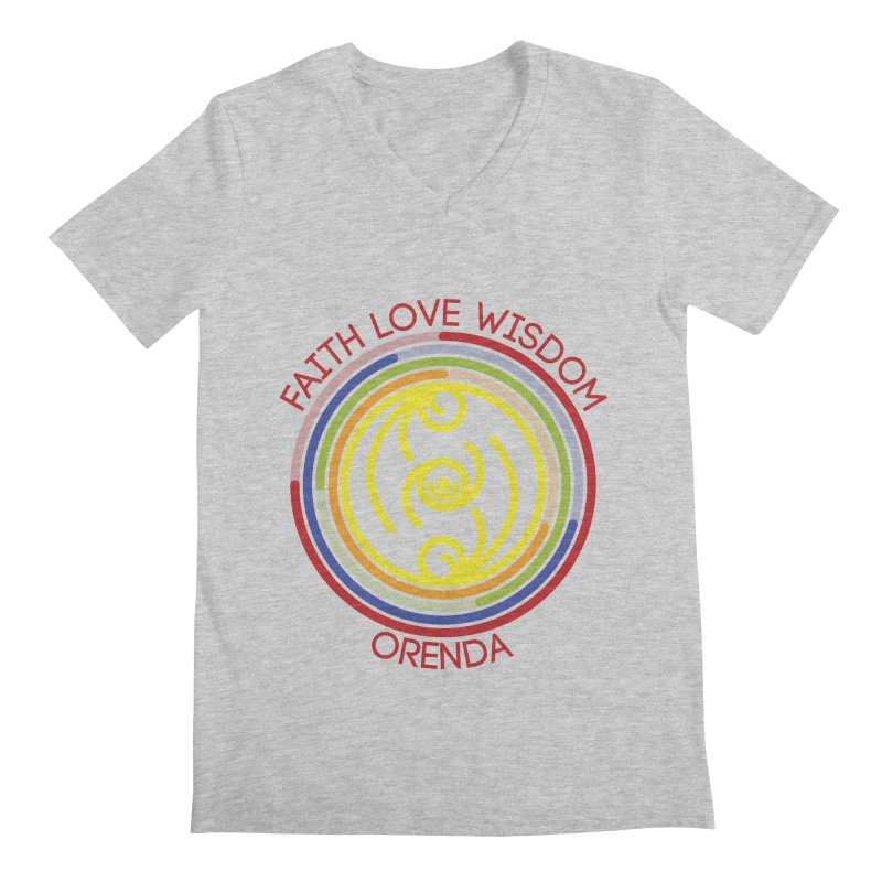 Faith Love Wisdom Men's V-Neck by hristodonev's Artist Shop