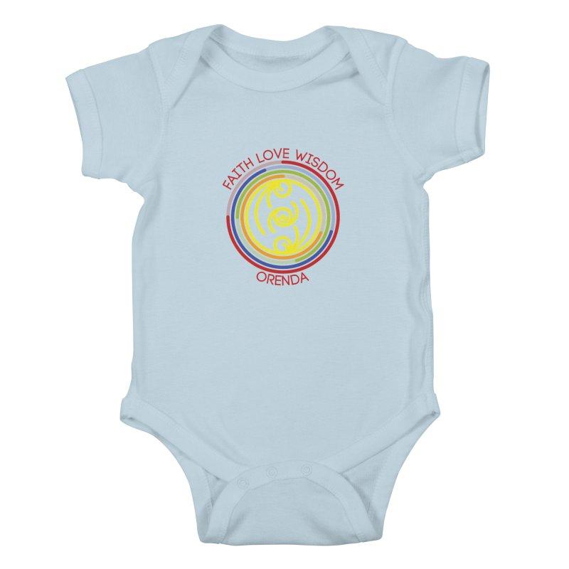 Faith Love Wisdom Kids Baby Bodysuit by Hristo's Shop