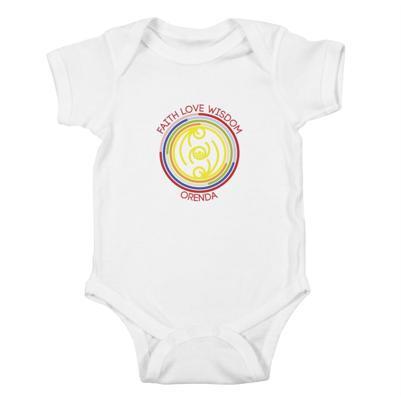 Faith Love Wisdom Kids Baby Bodysuit by hristodonev's Artist Shop