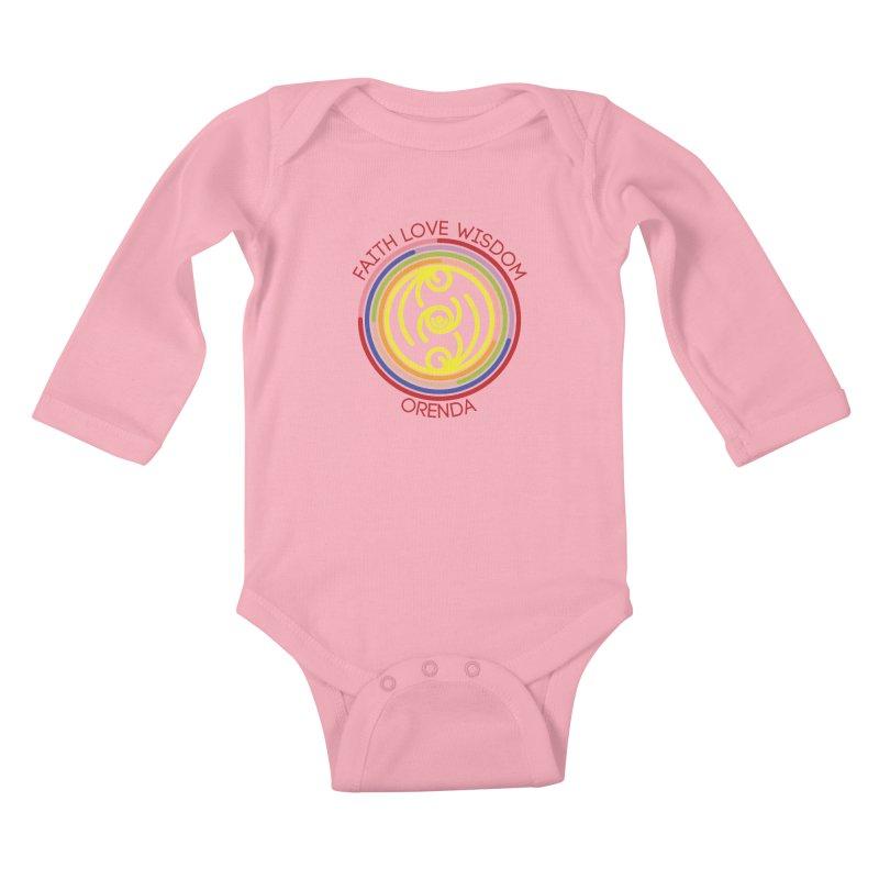 Faith Love Wisdom Kids Baby Longsleeve Bodysuit by Hristo's Shop