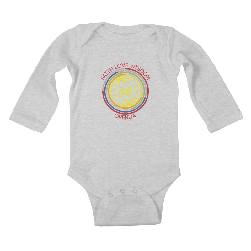 Faith Love Wisdom Kids Baby Longsleeve Bodysuit by Hristo's Shop