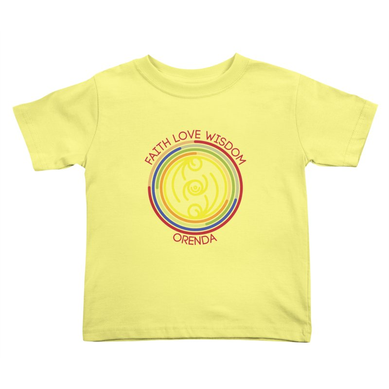 Faith Love Wisdom Kids Toddler T-Shirt by Hristo's Shop