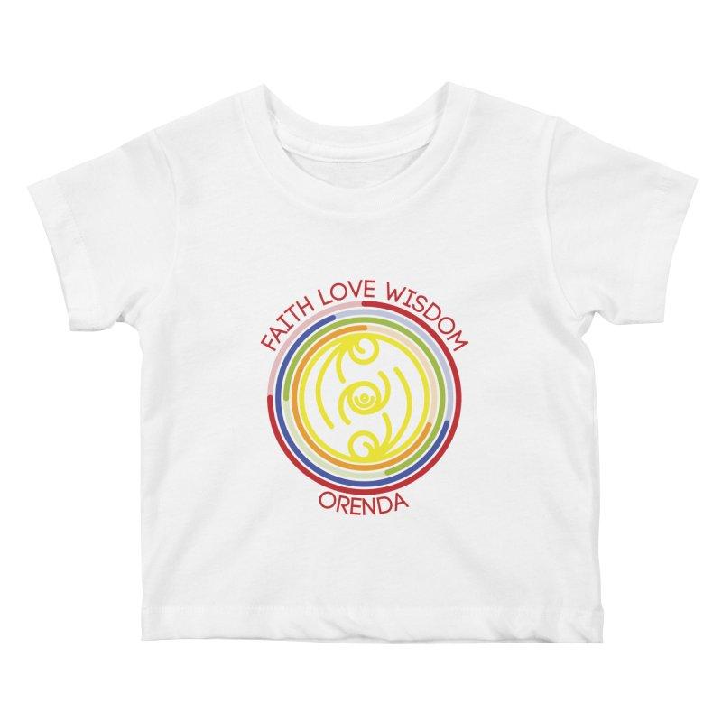 Faith Love Wisdom Kids Baby T-Shirt by Hristo's Shop