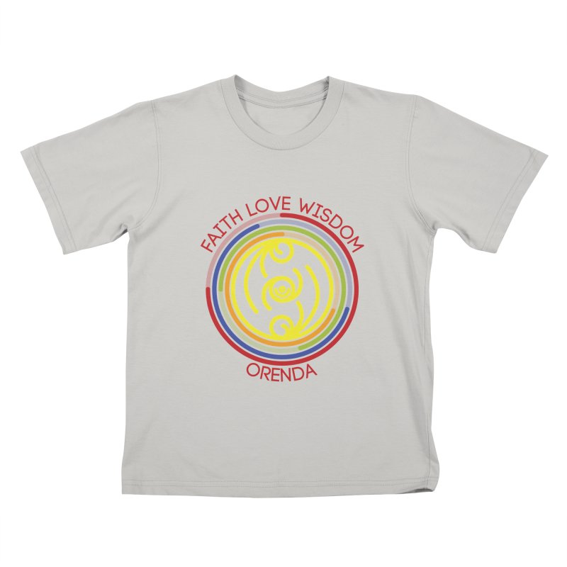 Faith Love Wisdom Kids T-shirt by hristodonev's Artist Shop