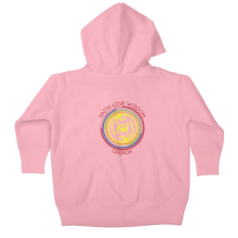 Faith Love Wisdom Kids Baby Zip-Up Hoody by Hristo's Shop