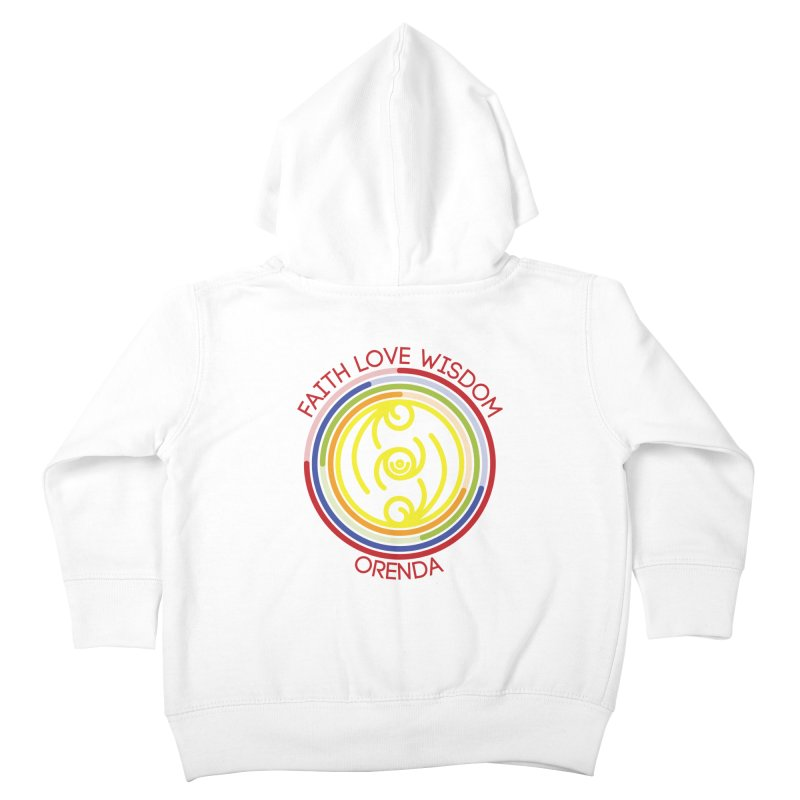 Faith Love Wisdom Kids Toddler Zip-Up Hoody by Hristo's Shop