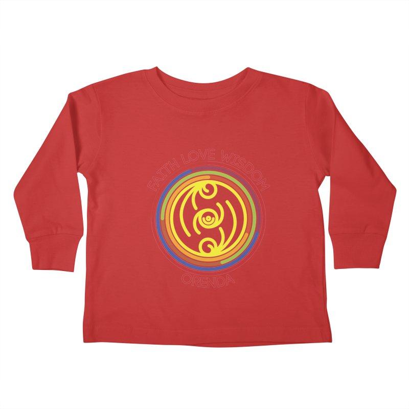 Faith Love Wisdom Kids Toddler Longsleeve T-Shirt by Hristo's Shop