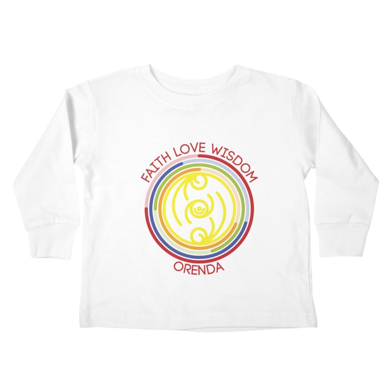 Faith Love Wisdom Kids Toddler Longsleeve T-Shirt by Hristo's Shop
