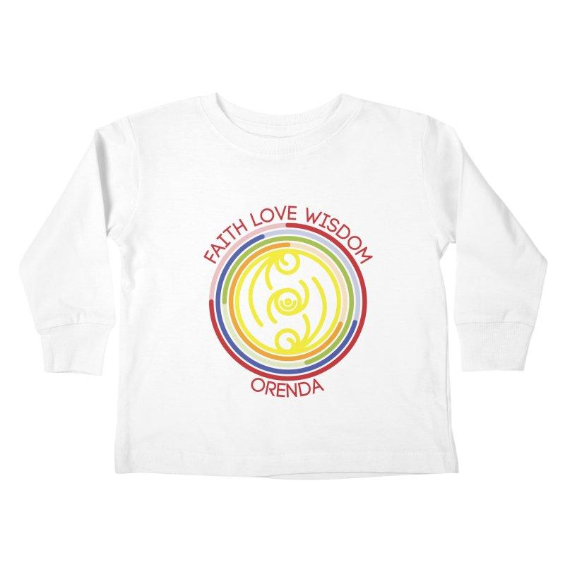 Faith Love Wisdom Kids Toddler Longsleeve T-Shirt by hristodonev's Artist Shop