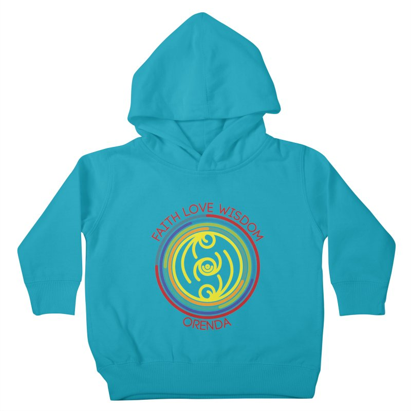 Faith Love Wisdom Kids Toddler Pullover Hoody by Hristo's Shop