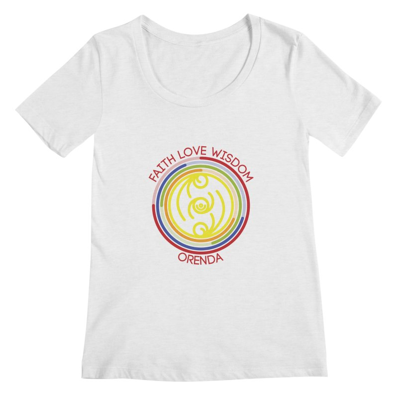 Faith Love Wisdom Women's Regular Scoop Neck by Hristo's Shop