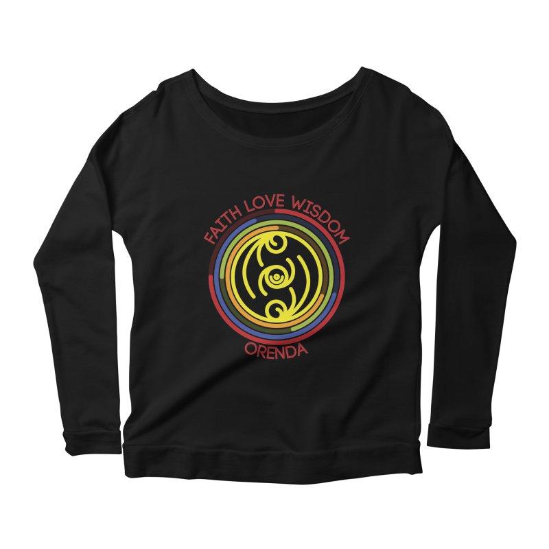Faith Love Wisdom Women's Scoop Neck Longsleeve T-Shirt by Hristo's Shop