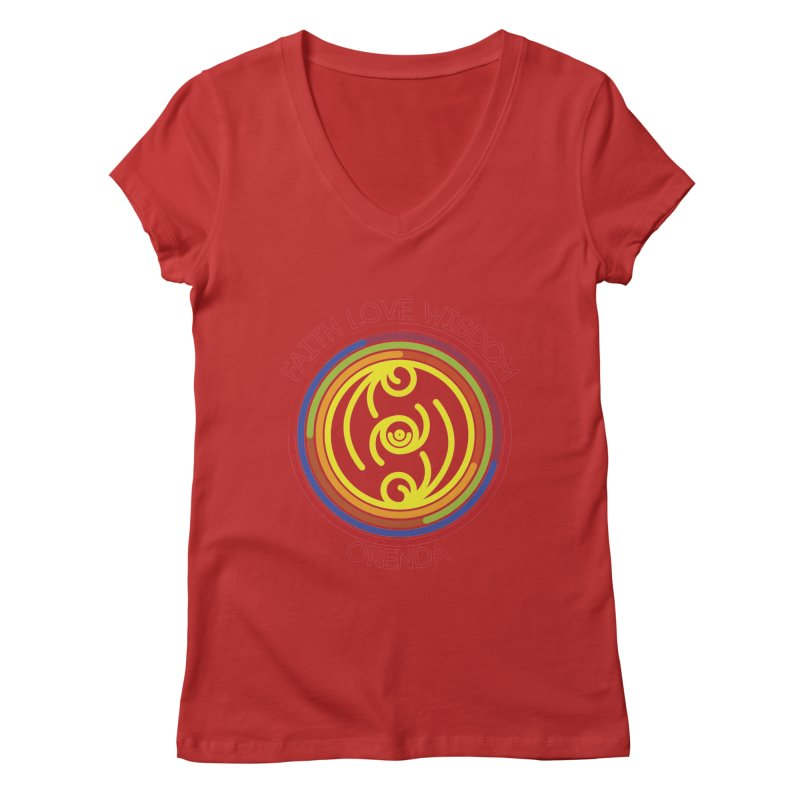 Faith Love Wisdom Women's Regular V-Neck by Hristo's Shop