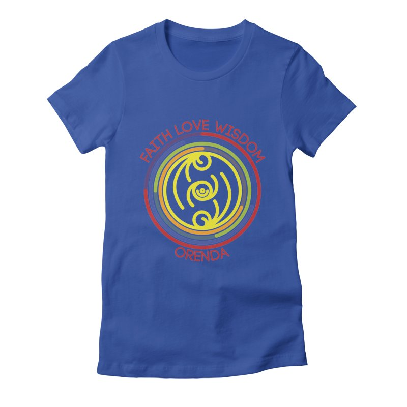 Faith Love Wisdom Women's Fitted T-Shirt by Hristo's Shop