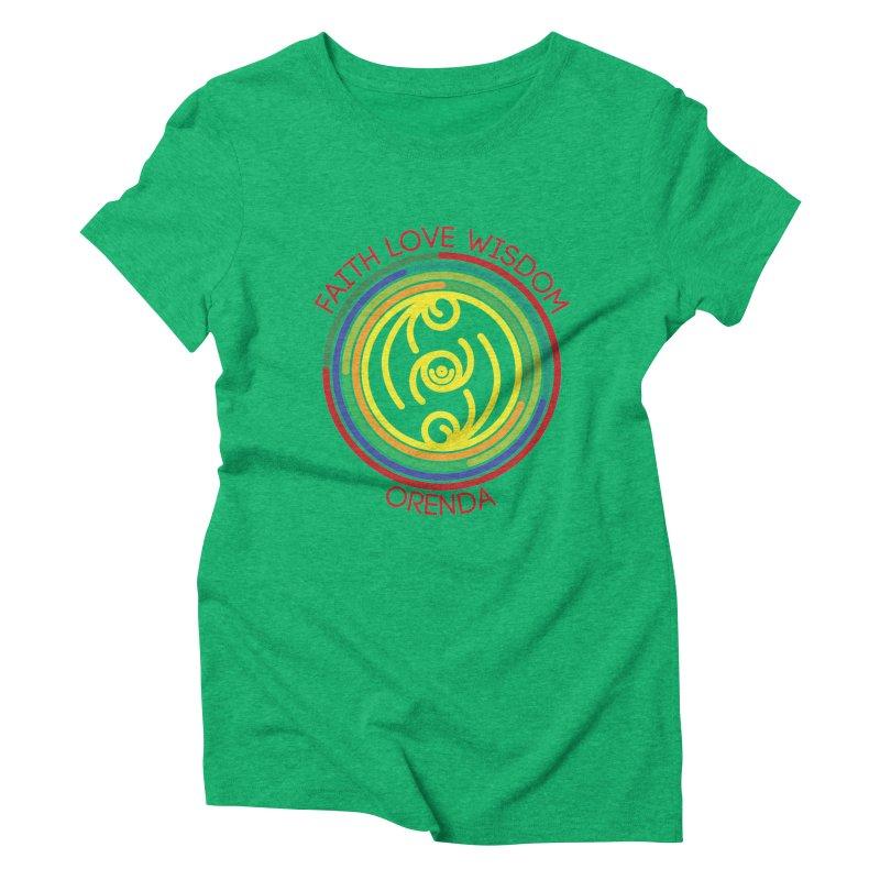 Faith Love Wisdom Women's Triblend T-shirt by hristodonev's Artist Shop