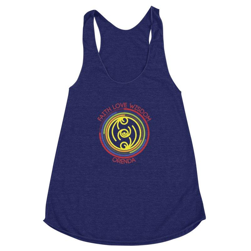 Faith Love Wisdom Women's Racerback Triblend Tank by Hristo's Shop