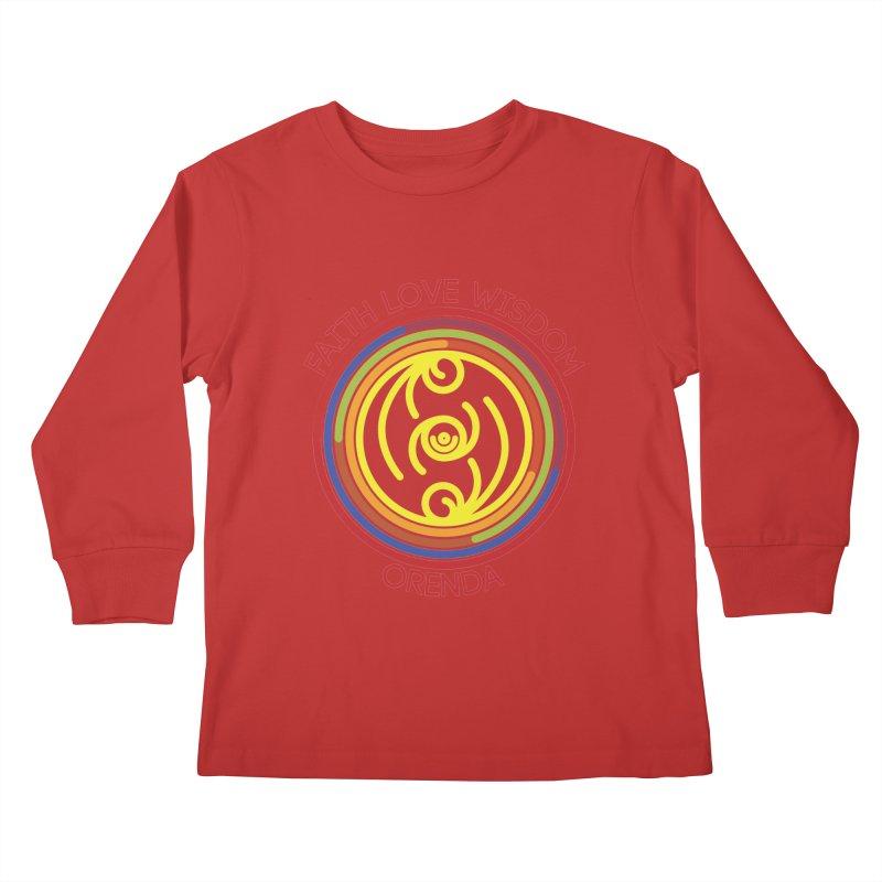Faith Love Wisdom Kids Longsleeve T-Shirt by Hristo's Shop
