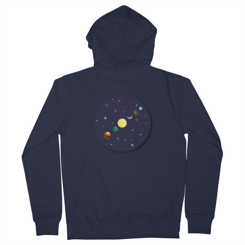 Starry night Women's French Terry Zip-Up Hoody by Hristo's Shop