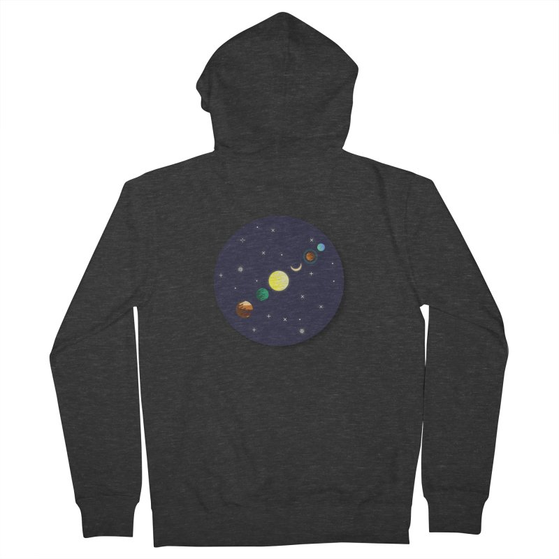 Starry night Men's Zip-Up Hoody by hristodonev's Artist Shop