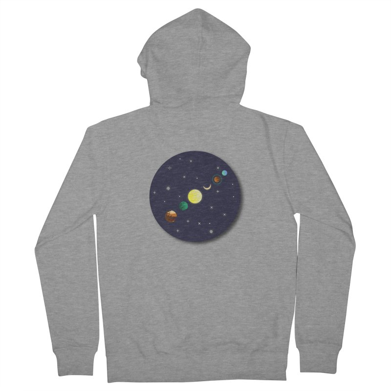 Starry night Men's French Terry Zip-Up Hoody by Hristo's Shop