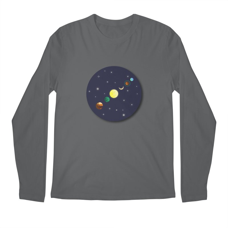 Starry night Men's Regular Longsleeve T-Shirt by Hristo's Shop